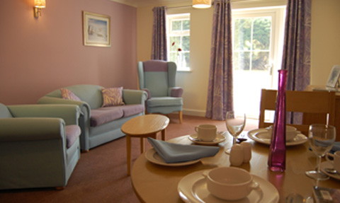 Care suite at Woodchurch House care home