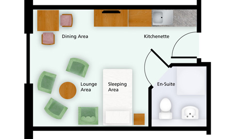 care suite floor plan